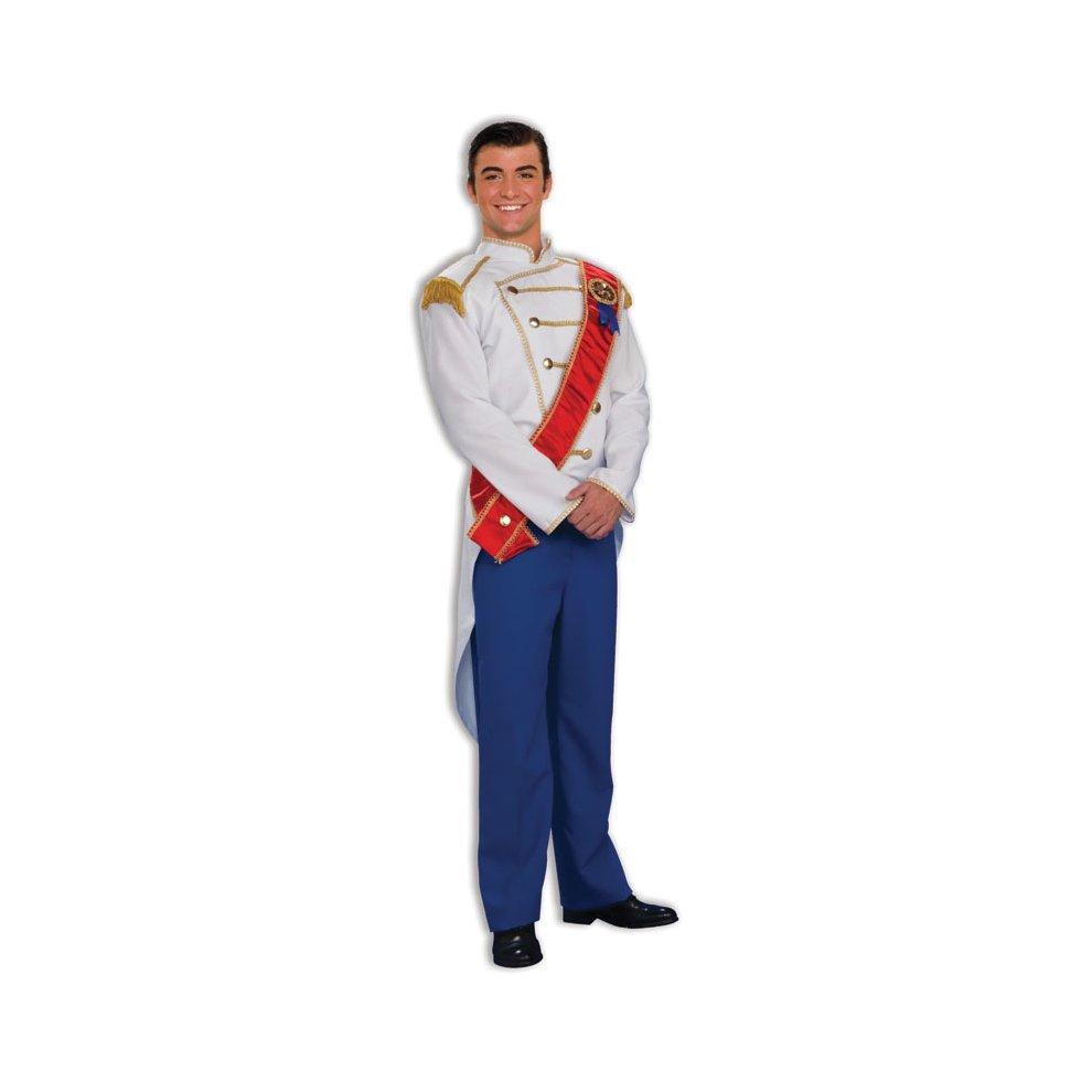 b2141aae413742 White & Blue Men's Prince Charming Costume - Fancy Dress Royal Outfit  Fairytale - fancy dress prince charming costume royal outfit fairytale mens  on OnBuy