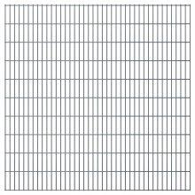 vidaXL 2D Garden Fence Panels 2008x2030 mm 36 m Grey