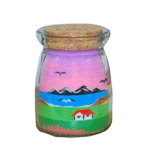 Creative Sand Art Picture with Bottle Kids Toy 7.5*5.5 cm