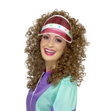 f1a48f815cf Compare Items Similar To Pink 1980s Light Up Visor - visor fancy dress led  adults sun pub golf lights 80s up mens ladies 1980s workout hat new casino  pink ...