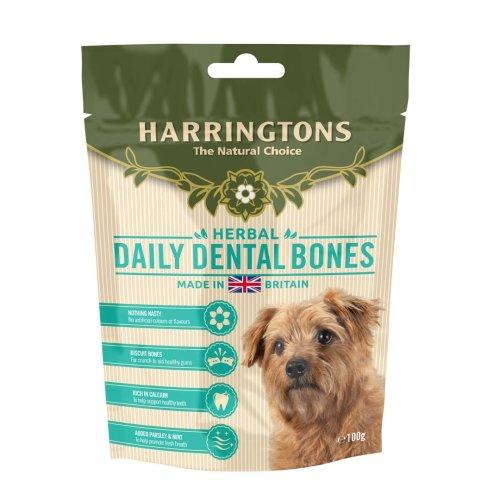 Harringtons Daily Dental Bones 100g (Pack of 7)