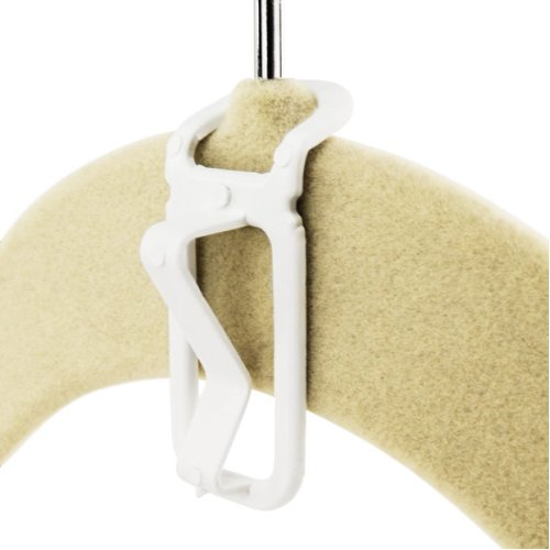 Hangerworld™ 20 White Plastic Multi Hang Connector Hooks Coat Hangers