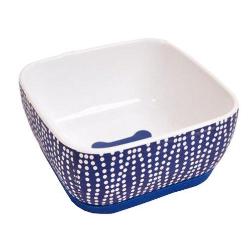 One Ceramic Feeding Pot/Pet Bowl/Dog Bowl/Cat Bowl For Food & Water 15x15x7.5CM(Blue)