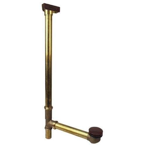 Westbrass 7931817LD-12 22 in. Linear Overflow with ADA Approved Tip-Toe Drain in Oil Rubbed Bronze