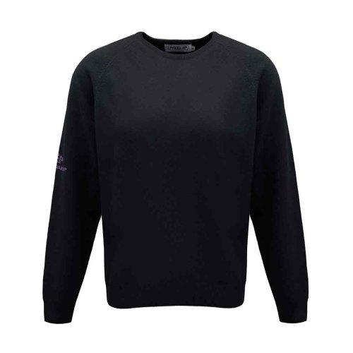 ProQuip Golf Julia Ladies Lambswool Sweater Crew Neck Jumper Black Medium