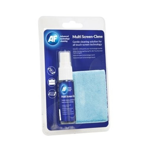Af Multi-Screen Clene Travel Pack 25Ml Pump Spray And Cleaning Cloth XMCA25MF
