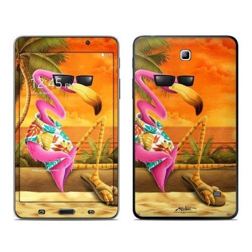 DecalGirl ST47-SFLAMINGO 7 in. Samsung Galaxy Tablet 4 Skin - Sunset Flamingo