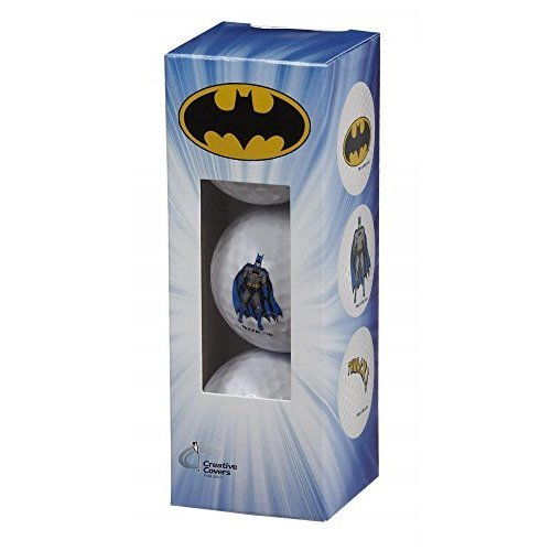 Creative Covers for Golf Unisexbatman 3Pc Golf Ball Assortment White