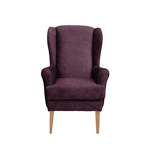 MAWCARE Darcy Orthopaedic High Seat Chair - 21 x 18 Inches [Height x Width] in Darcy Plum (lc21-Darcy_d)