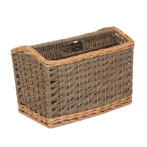 Country Wicker Magazine Rack