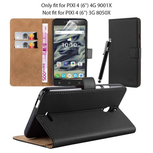 "For Alcatel Pixi 4 (6.0"") 4G Leather Wallet Case"