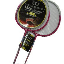 2 Packs Badminton Racquets Fuchsia Rackets for Wholesale with Case