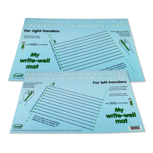 Writewell Mat (Blue)  Right and Left handed