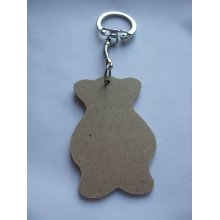 MDF Wooden Keyring For Decoration - Bear Shaped