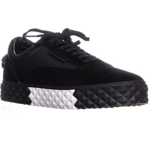 KENDALL + KYLIE Reign Platform Sneakers, Black Suede, 8 UK