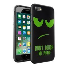 i-Tronixs - Don't Touch My Phone Green/Black Design Printed Case Skin Cover