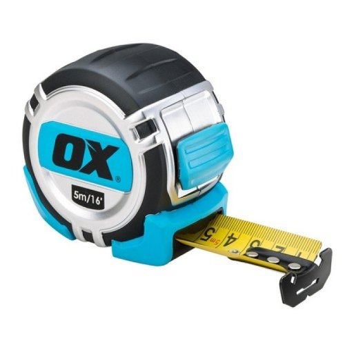 Ox P028705 Pro Heavy Duty Tape Measure - 5m Metric and Imperial