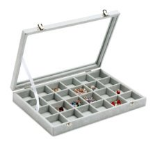 Jewelry Box Necklace Stand Rings Display Earrings Holder Organizer-D02