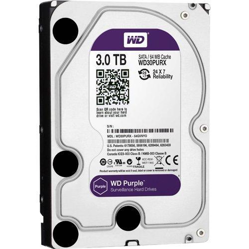 3TB WD Purple SATA3 64Mb Surveillance Hard Drive