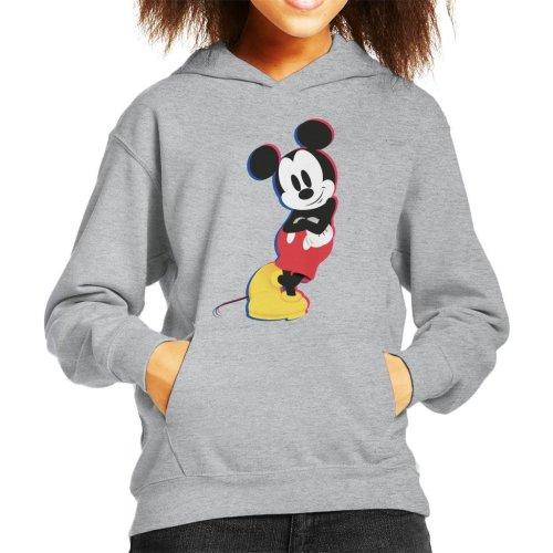(Large (9-11 yrs), Heather Grey) Disney Mickey Mouse Lean Kid's Hooded Sweatshirt