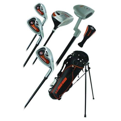 Go Junior Childrens 7 Piece Golf Starter Kids Package Set Age 6-8 Left Hand