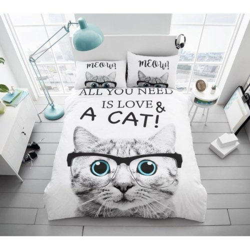 All You Need is Love Cat Modern Duvet Cover Bedding Quilt Set