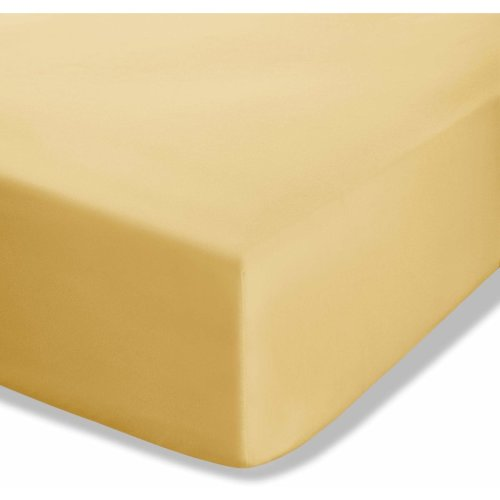Catherine Lansfield Easy Iron Percale Single Fitted Sheet Ochre