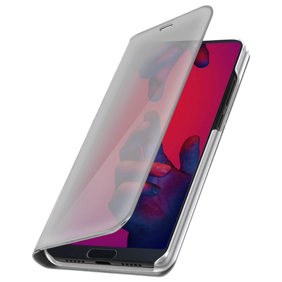 factory authentic e29f3 1866a Flip Case, Mirror Case for Huawei P20 Pro, Standing Cover – Silver