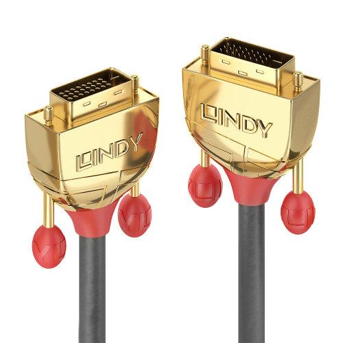 Lindy 36201 DVI cable 1 m DVI-D Gold,Grey