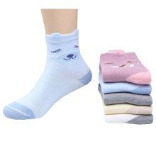 5 Pairs of Cozy kids Cotton Socks Children  Gifts Comfortable Socks,5-6years?dog