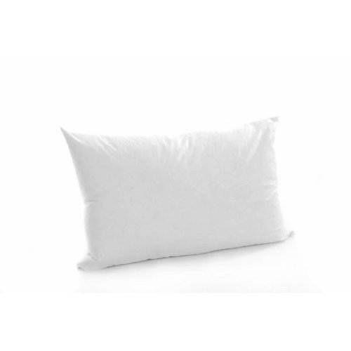 "12"" x 20"" Duck Feather Cushion Pad 100% Outer Cover White"