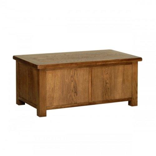 Devonshire Rustic Oak Furniture Blanket Box