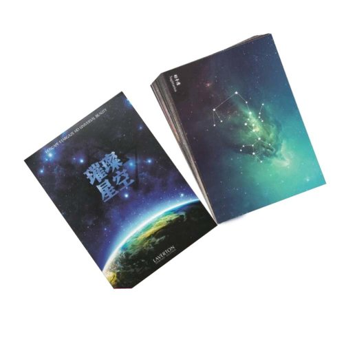 Postcard Hand Set Collection Set Night Sky Painting Greeting Card