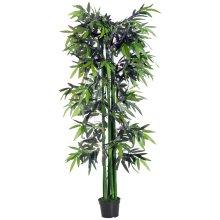 Outsunny 6ft Artificial Bamboo Tree | Large Fake Bamboo Plant