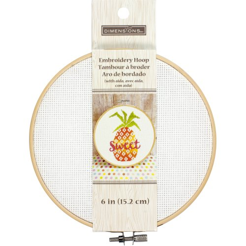 "Dimensions Embroidery Hoop W/Aida 6""-White"