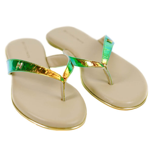 Butterfly Twists Holographic Ladies Flip Flops