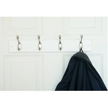 Quality Heavy Duty 4 Double Coat Hooks Wall Or Door Mountable