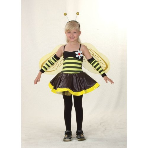 f94842889 Medium Black & Yellow Girls Bumble Bee Costume - bumble bee costume fancy  dress girls childrens medium outfit kids value on OnBuy