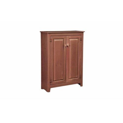 Chelsea Home Furniture 465-0202-CR Aria Cupboard, Cranberry Red - 58 x 36.5 x 16.5 in.