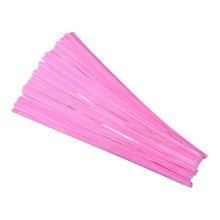 50 Pink Pipe Cleaners 30cm x 6mm