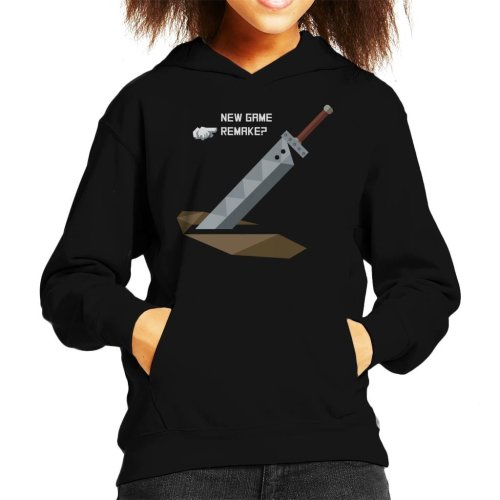 New Game Remake Final Fantasy VII Kid's Hooded Sweatshirt