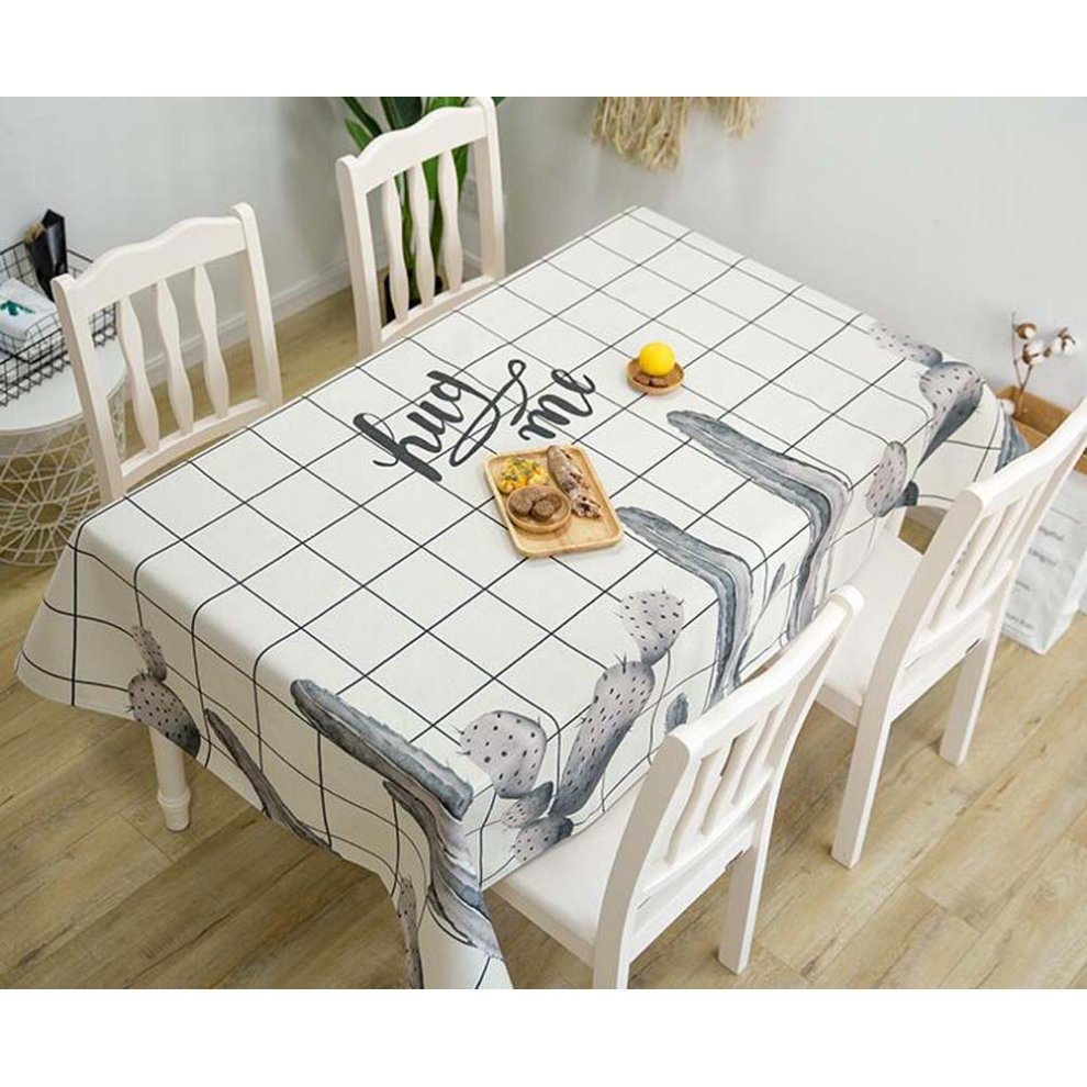 Cactus Kitchen Tablecloth For Home Kitchen Party Indoor Or Outdoor ...