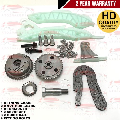 FOR CITROEN C3 C4 C5 DS3 DS4 DS5 1.4 1.6 VTi THP TIMING CHAIN KIT VVT HUB GEARS