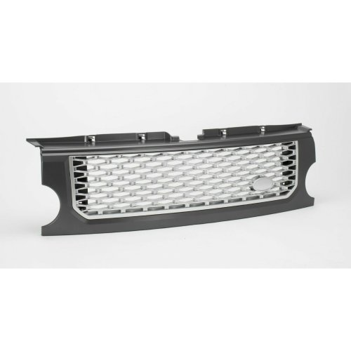 DISCOVERY 3 AUTOBIOGRAPHY LOOK FRONT GRILLE GREY WITH SILVER MESH-RE9001