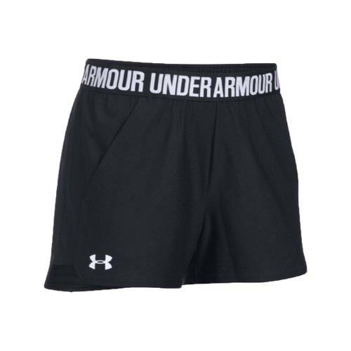 Under Armour New Play Up 3'' Short 1292231-002 Womens Black shorts
