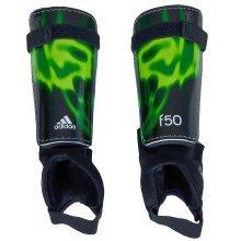 Adidas F50 Replique Shinguards - Large, BLACK/GREEN