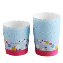 100PCS Cute Home Baking Paper Cups Cupcakes Cases Cupcakes Cup,Blue