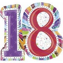 S/SHAPE:RADIANT BIRTHDAY 18 - Foil Balloons 1606301