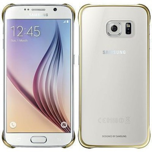 Samsung Clear Cover Mobile Phone Cover Gold,transparent