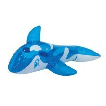 Benross Transparent Blue Whale Inflatable Swimming Pool Beach Rider